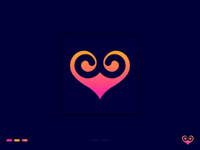 Love Logo Design dribble logo brand logo love creative logo gradient logo abstract logo logo inspiration khaled pappu logo design graphic design branding logo love logo design love love logo