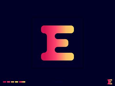 E Letter Logo Design logo mark top logo logo inspiration dribble creative logo gradient logo alphabet design branding graphic design khaled pappu logo design logos logo e letter letter logo e logo e letter logo