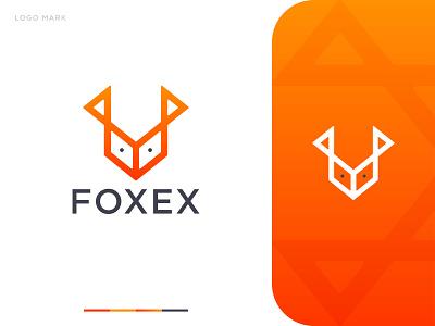 Foxex Logo Design foxex logo process creative logo gradient logo abstract logo logo idea dribble logo concept logos khaled pappu logo graphic design branding logo design fox fox logo design fox logo foxex logo