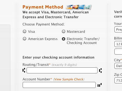 Gimme your money check checkout payment electronic transfer credit cards