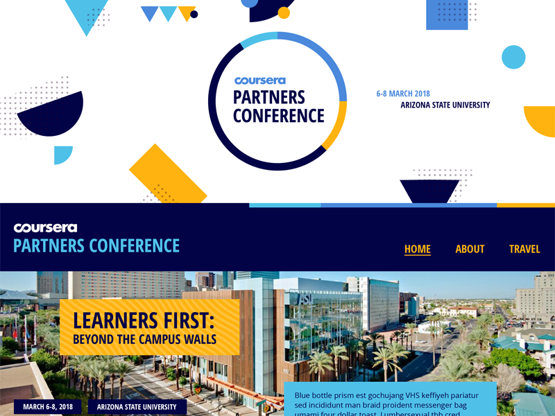 Coursera Partners Conference Site coursera arizona state university shapes open sans