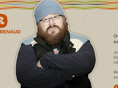 Portfolio portfolio sexy beard blue hat beanie bad-ass mid-century pattern