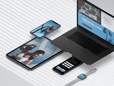 TruFit Ecosystem ui design ux design fitness wallet pass watch mobile app website