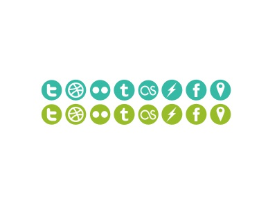 Social Icons for Gedy icons social networking green