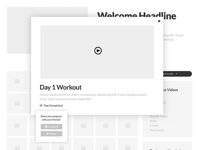 Workout Program - Wireframe