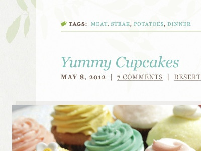 Tags & Titles georgia ui recipe web website tags title date comments categories photo division cupcakes blog theme