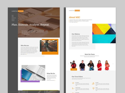 Marketing Agency Web Design gray sidebar web design agency orange web design website