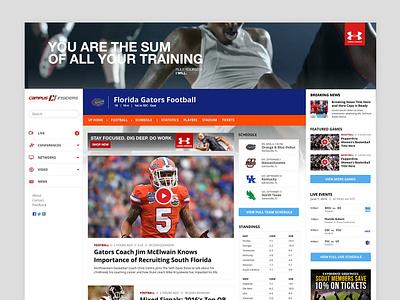 College Sports Entertainment Website