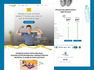 Jaime Brenkus Landing Page for Workout Program ux design user experience fitness workout pricing table web experience landing page