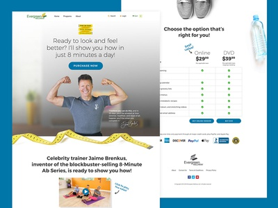 Jaime Brenkus Landing Page for Workout Program