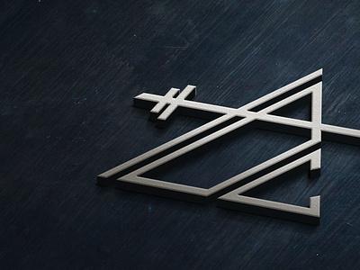 Logo Design Concept for Fitness Center triangle fitness icon mark logo