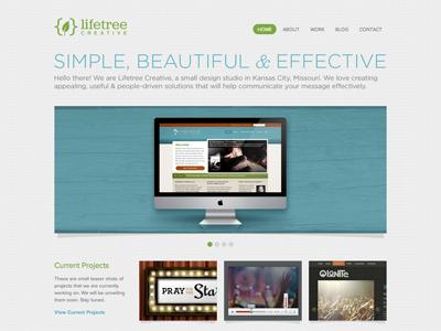 Redesign redesign website finally simple green teal gray grey carousel homepage gotham jubilat declaration