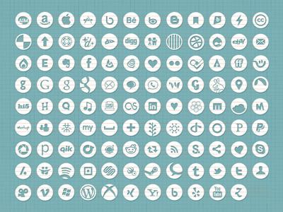 They've Multiplied! icons social vector custom shape circles
