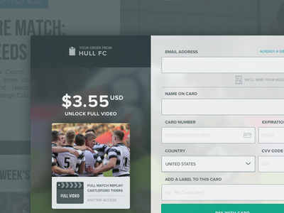 Checkout screen user interface design visual design