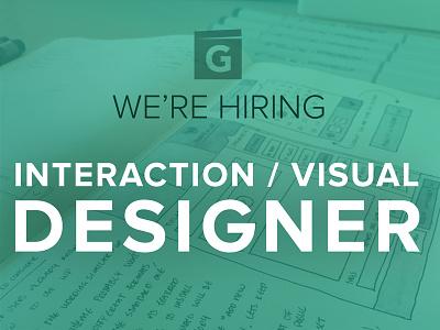 We're hiring! hiring