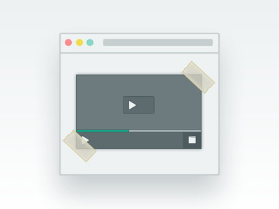 Embed your video player video embed graphic ui design user interface visual design illustration