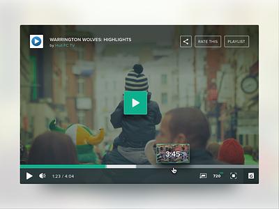 Video player controls video player video player user interface ui design visual design