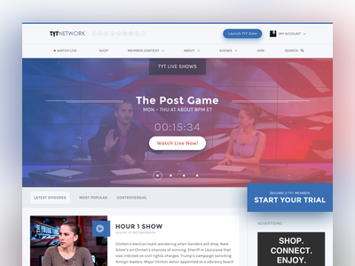 Home page video landing page home page home website user interface ui design visual design