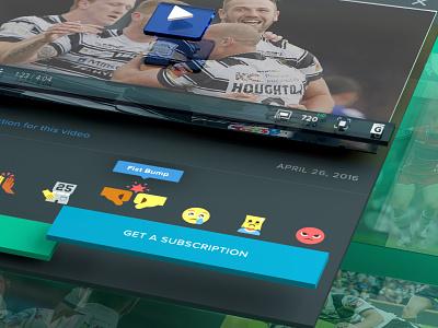 Website graphic user interface ui design video player 3d visual design