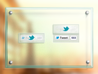 Twitter Glass Button buttons icon share twitter ui
