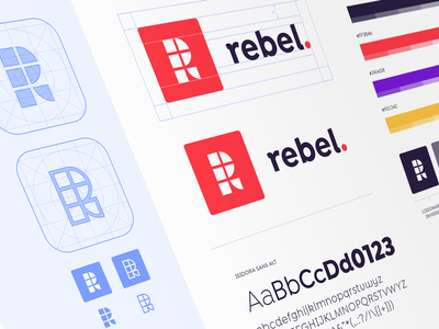Rebel Branding digital combination colour design red type mark identity brand logo