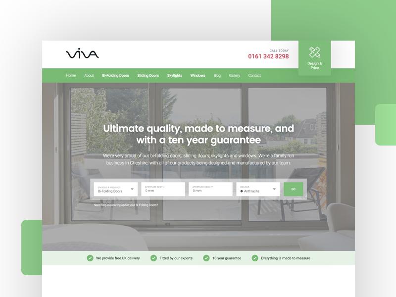 Viva dribbble homepage