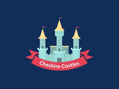 🏰 vector illustration castle branding