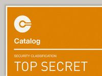 Top Secret: Catalog App