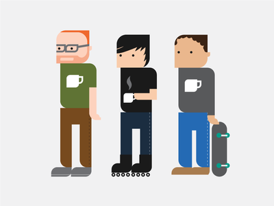 Mocha Team coffee icons illustration