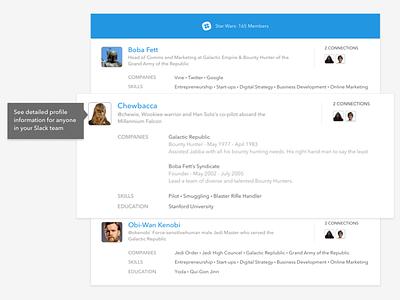 Intro Marketing Ui webapp callout profile design ui