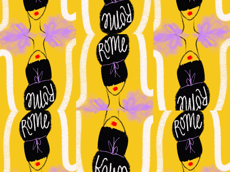 Rome wallpaper fashion vacation travel rome editorial illustration travel illustration illustration