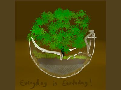 Everyday is earthday! illustration nature grafikdesignerin design earthday