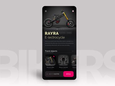 BikerShop — eCommerce App Concept