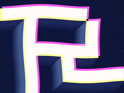 R design typography alphabet practice r