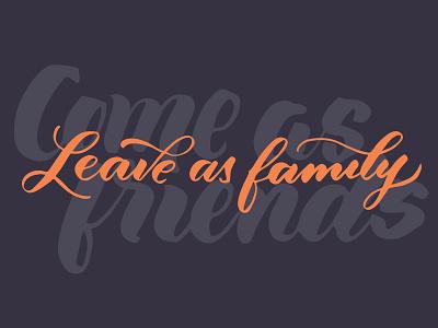 Family creative south cs15 handtype type brush script lettering hand lettering brush lettering calligraphy typography design