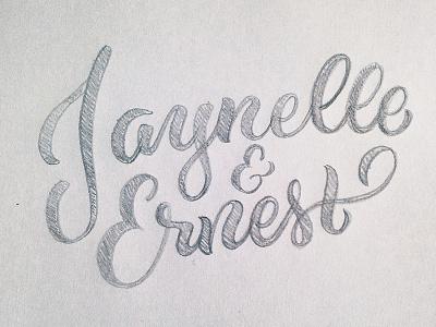 Jaynelle & Ernest design typography hand lettering wedding