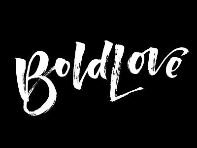 BoldLove textures handtype brushtype type lettering logo design
