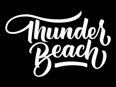 Thunder Beach handtype brushtype type lettering logo design