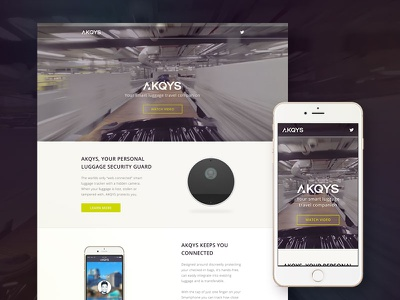 AKQYS Responsive Website minimal web startup digital design branding user-experience user-interface website clean responsive