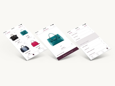 Rent The Bag product pages user experience mobile digital concept clean ux ui retail ios flat design app design