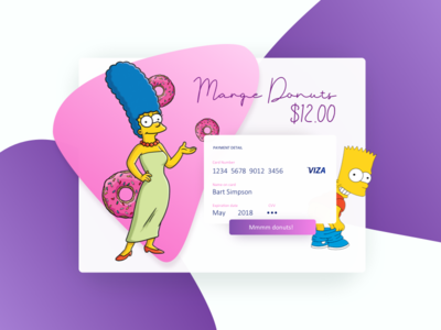Marge Donuts Credit Card Checkout