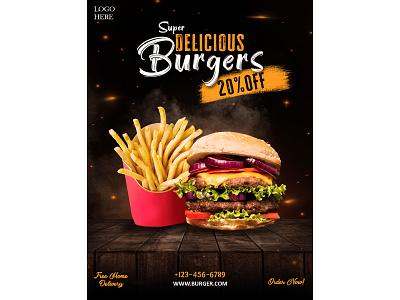 Burger Poster poster design