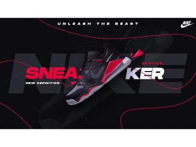Nike Sneaker poster design poster design