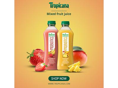 Tropicana Juice Poster design poster design
