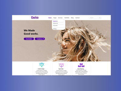 Creative digital agency UI figma xd website landing page page lalading illustrator vector ux ui graphic design illustration design