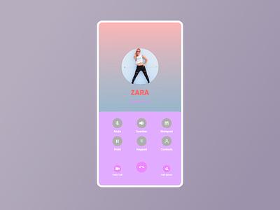 Calling screen UI uiux calling screen calling call ux branding vector graphic design ui design