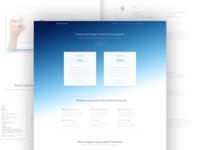 Subpages for dental app website