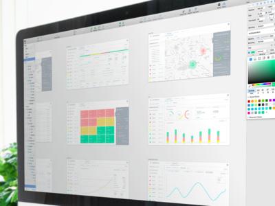 Industrial Analytics Dashboard Sketch Wireframes