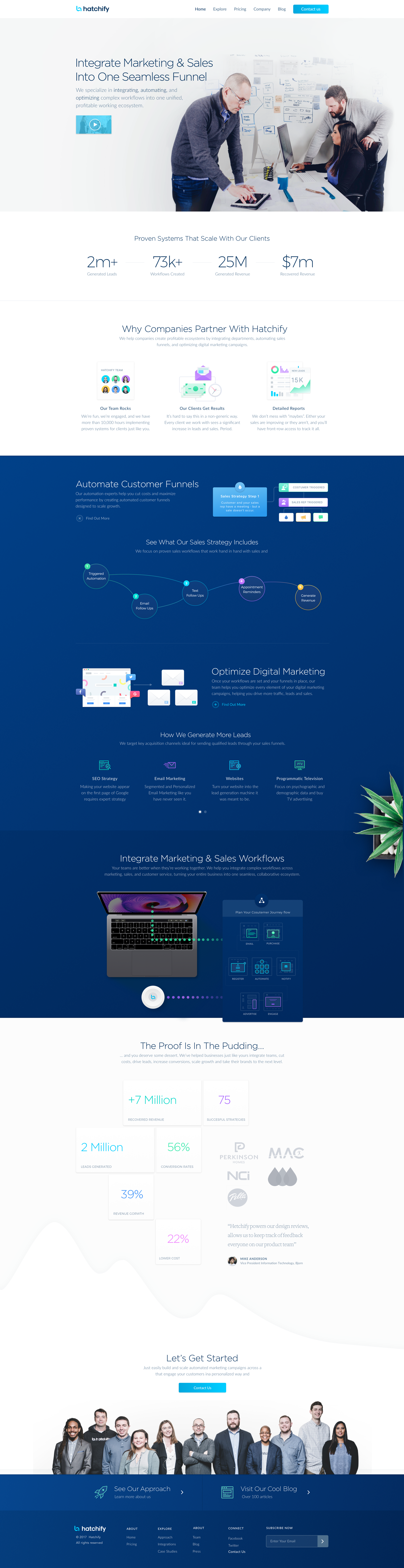 Marketing and sales automation services homepage