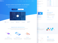 Access management software landing page